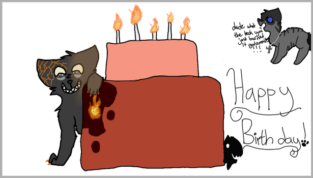 happy birthday here's a cake by Angelkat567