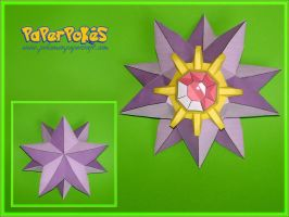 Starmie Papercraft by Skele-kitty