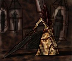 A Pyramid Head Halloween by Clayman8