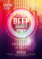 Deep Sounds Party | Psd Flyer Template by RomeCreation