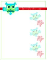Owl Stationary Design by fuish