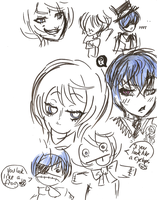 Ciel and Alois - doodles by Bifauxnen