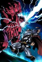 Redhulk vs Thor! by arfel1989