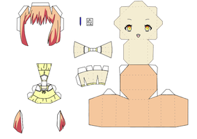 Nanami Haruka Papercraft Template by groncaloncia