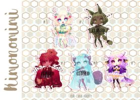 [CLOSED TY] Adoptable Batch 40 - KIMONOMIMI by Puripurr