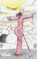 Jesus and the Cross by killerPIE