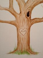Guest Book Tree Detail by aPeculiarFox