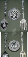 Spoon Fork Plate by Sadeira