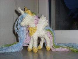 Princess Celestia Amigurumi by Blondy1999
