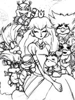 Mama Peach and her big family by SweetBaiTsa