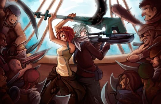 Pirate Scene 01 by Snow the Wanderer by Drew-Writer