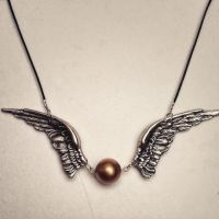 Harry Potter Golden Snitch Inspired Necklace by captivefancy