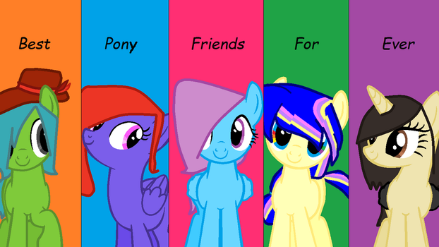 Sparkle and Some of My Friends' Mlp Ocs by FazFoxy