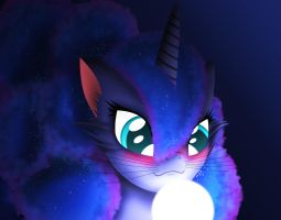 Luna Cat/Pony hybrid  (I think) by Oliminor