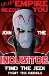 SW Rebels - Inquisitor Propaganda Poster by NatAsplund