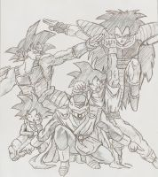 The saiyan force by Lazaer