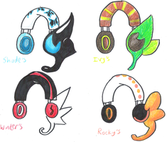 I made some earphones by Shadestepwarrior
