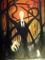 Slenderman Painting by Skulleton