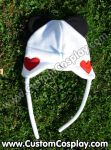 Heart panda hat back side by The-Cute-Storm
