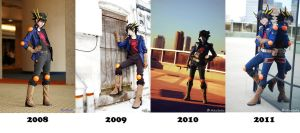 Yusei Cosplay Evolution by Malindachan
