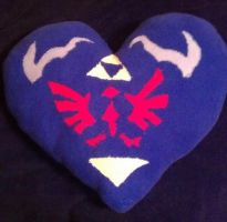 Link's Heart Shield Pillow by Catzrock24