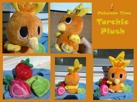 Pokemon Time Torchic Plush by methuselah-alchemist
