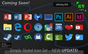 Simply Styled Icon Set UPDATE PREVIEW by dAKirby309