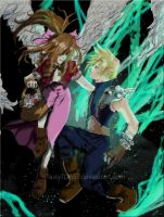 Cloud and Aerith -final- by TastyTOAST