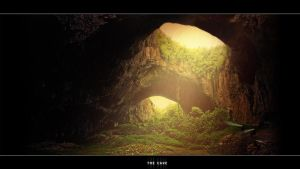 The Cave - Matte painting by whitenioon