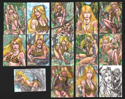 Sheena sketch cards part2 by DJLogan