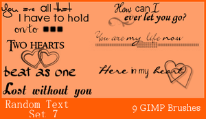 GIMP Random Text Set 7 by Illyera