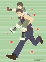 Here Comes the Ambulance ~ Billy and Rebecca (RE0) by helyxzero