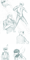 sketches: Young Justice, again by Sui-Sui