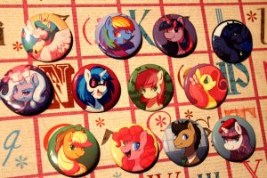 MLP Button Set by CaramelBrulee