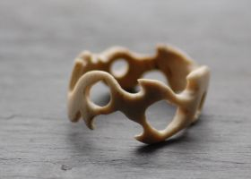 Tribal Bone Ring by heartfullofhell