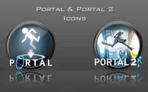 Portal And Portal 2 Icons by zahnib