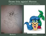 Before After Sonic Mermaid by rockgothicgirl