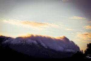 Wales Snowdonia Frozen Cloud Sunset 1 by Samuel-Benjamin