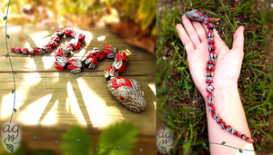 Slithering Red and Silver Snake by altaiira