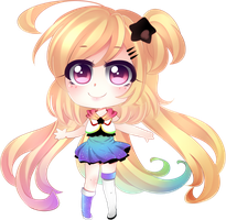 Rainbow Chibi ~ by Cure-Rainbow