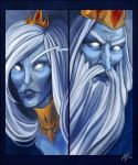 IceQueen+IceKing by Weissidian