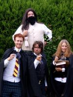 Hagrid and The Trio by majann