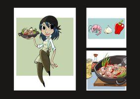 Cookbook Illustrations by vern-argh