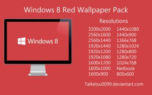 Windows 8 Red Wallpaper Pack by Taiketsu0099 by Taiketsu0099