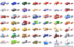 Transport Icon Set by Aha-soft
