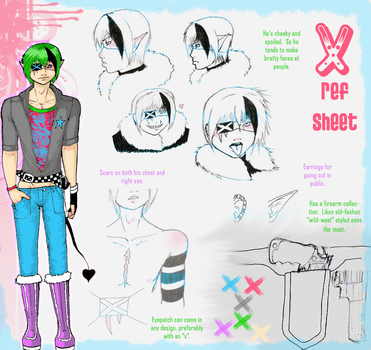 Half-assed character sheet. by TeapartyQueen