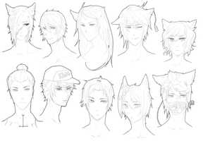 FREE SKETCHY HEAD REQUESTS (FINSIHED) by Bitschi