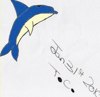 Blue and cream dolphin by CartoonMad97