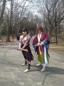 Hakuouki - Heisuke and Souji by magical-machete
