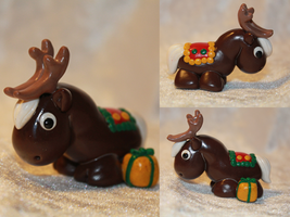 Christmas Reindeer (Dark Brown-chocolate) for SALE by AnimalisCreations
